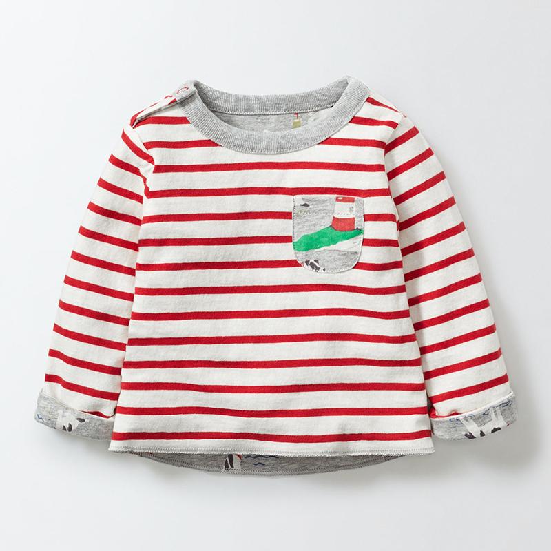 HTB1FuBxSXXXXXcXXXXXq6xXFXXX7 - Little maven children brand baby boy clothes 2017 autumn new boys cotton long sleeve red striped pocket t shirt 50889