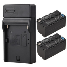 Goldfox forNP-F770 2 pcs 5200 mAh NP-F750 NP F750 F770 NP Substituição Câmera Digital Bateria + Carregador USB para Sony NP-F750 NP-F770