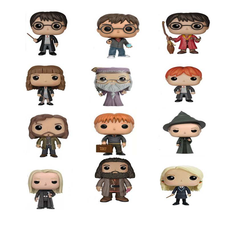 10CM The Harry Potter Dobby Toy Harry Poter Ron Dumbledore Pop Action figures Doll For Kids Christmas Best Gifts 1 6 scale sa0004 harry potter and the sorcerer s stone hermione granger collectible action figures dolls gifts
