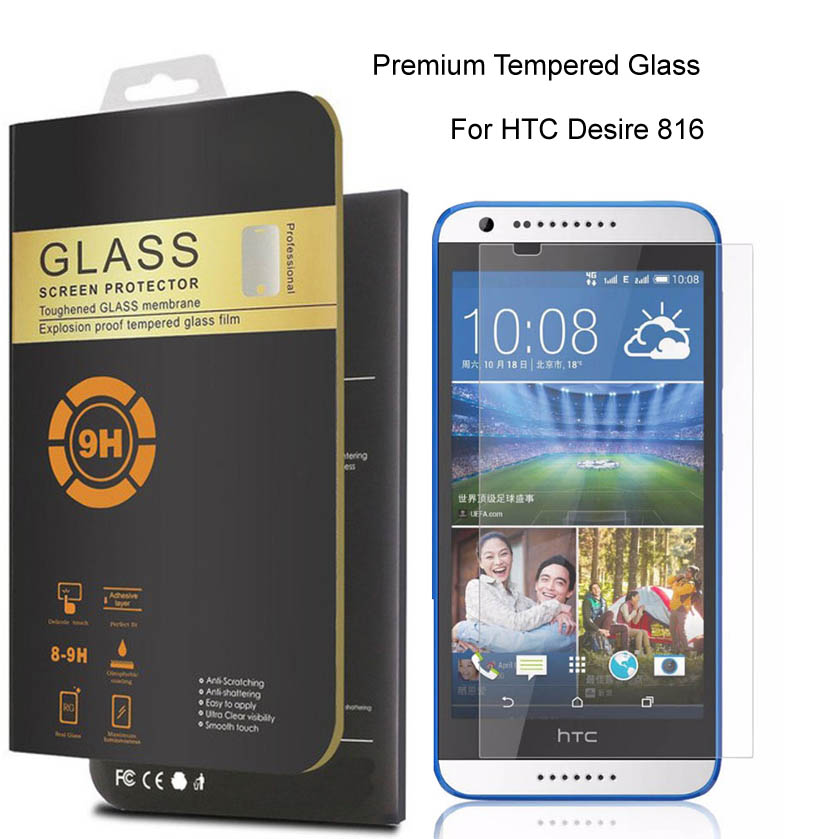 GXE For HTC Desire 816 9H 0.26mm Premium Protective Front Film Tempered Glass For HTC Desire 816 dual sim Phone Screen Protector