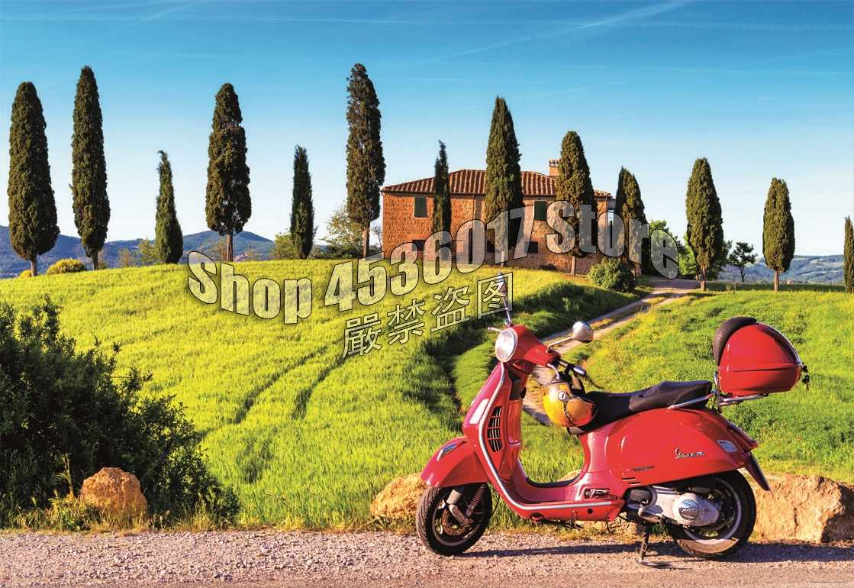 Diy алмазная живопись полный квадрат, вышивка крестом Алмазная мозаика скутер в Toscana пейзаж мотоцикл Италия Картины домашний декор