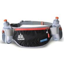 AONIJIE Running Waist Bag Hydration Belt Bottle Phone Holder Waterproof Jogging Fanny Waist Pack with Two Water Bottle 170ml