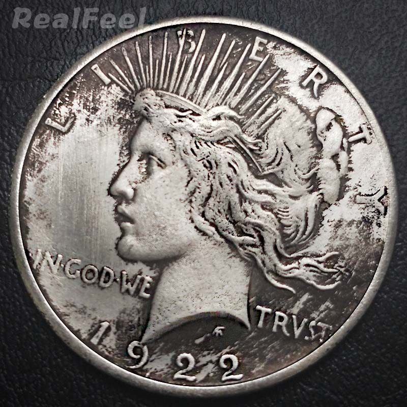 USA old coins copy replica coins peace dollar 1 dollar us liberty dove coin 1922 antique copper coins gift hand craft