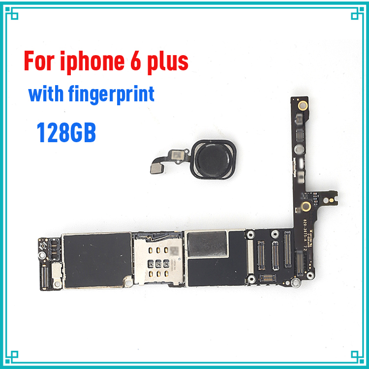128GB IOS system logic board for iphone 6 Plus 5.5inch original main board with fingerprint unlock motherboard,Good Working