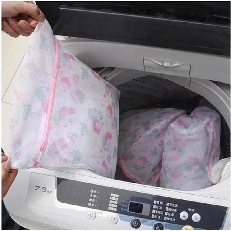 Складная Большая одежда сумка для белья нейлоновая стиральная нижнее белье