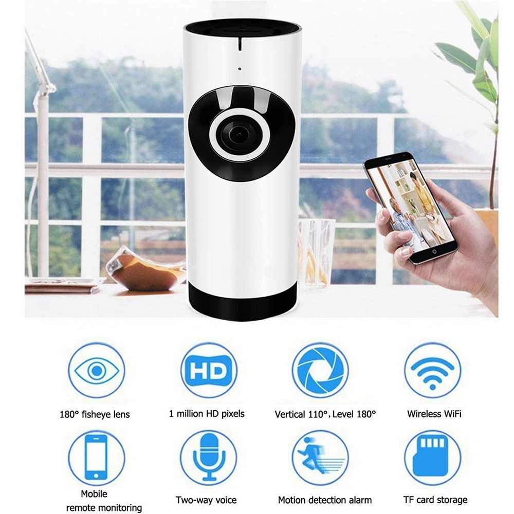 720P HD Wifi IP Camera Wireless Home Security Surveillance Camera IR-Cut Night Vision CCTV Camera 64GB Memory Card