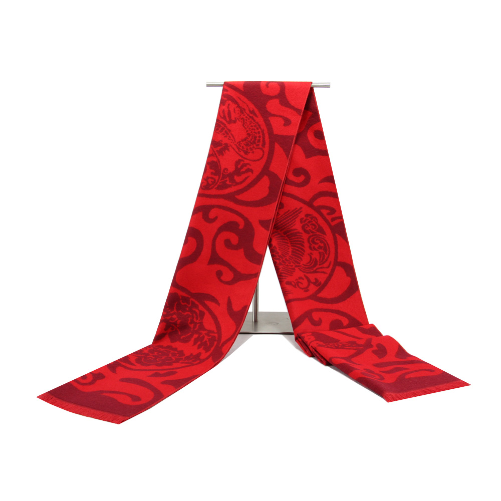 Christmas tree novelty christmas tree china http www gd wholesale com - Gift Company Annual Meeting Tassels Shawl Autumn Winter Men And Women Adult Red Scarf China Style