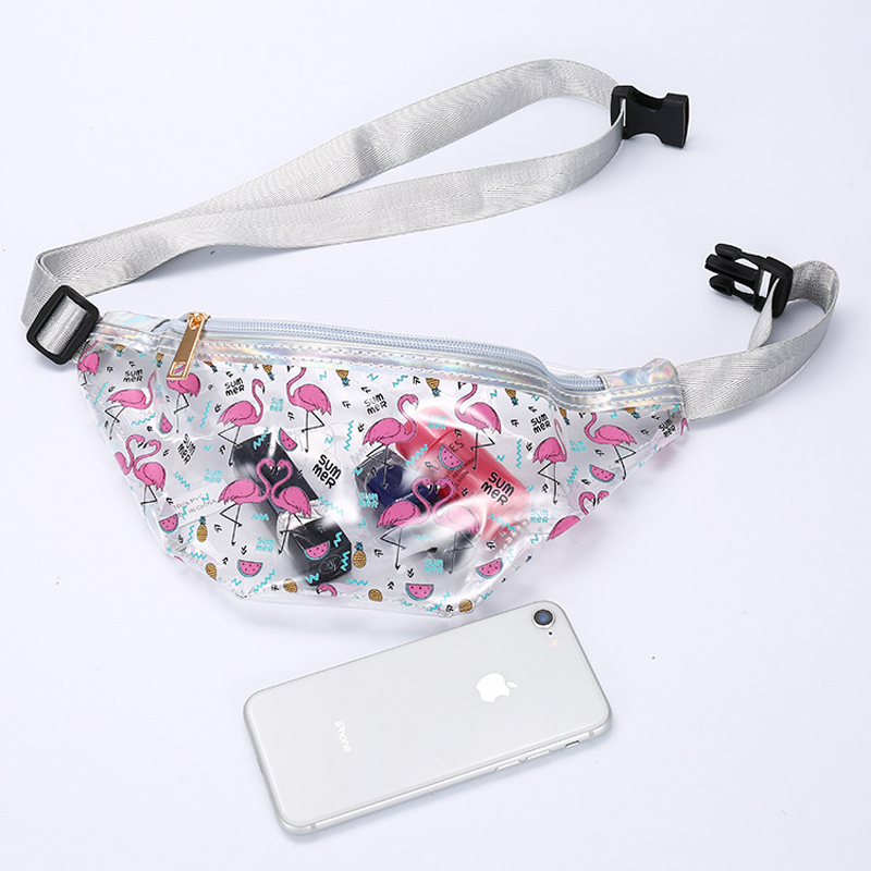 Cute Girls Waist Bag Kids Fanny Pack Cartoon Sequins Women Belt Bag Phone Pouch