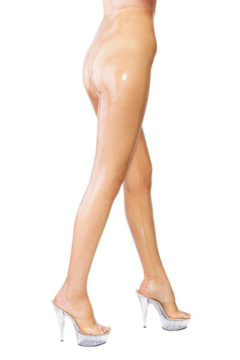 Látex negro Sexy enorme Leggings anatómicos pelota de gallo pantalones largos de goma pantalones de látex condón pene vaina XXXL de talla grande KZ 018 - 2