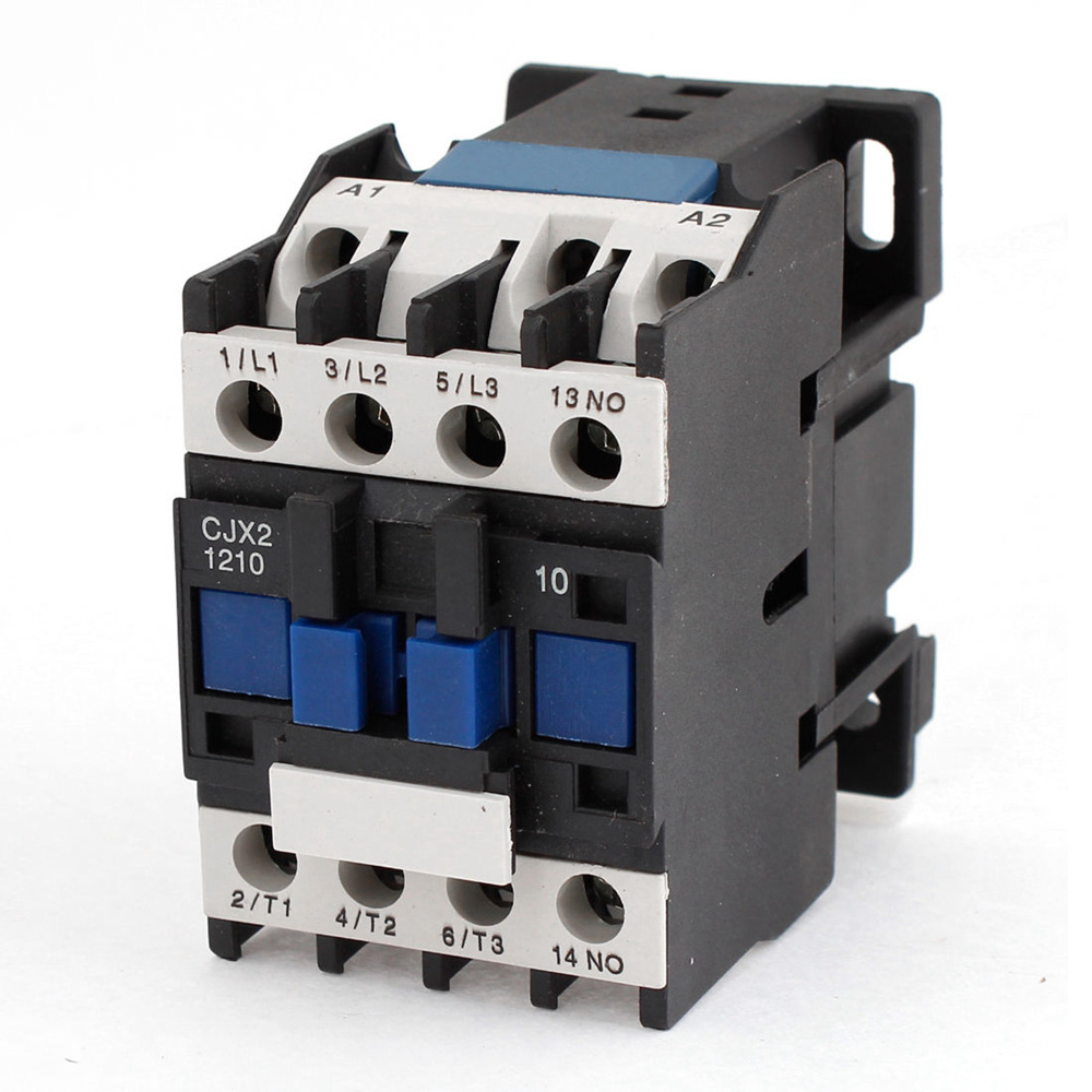 цена на 3 Phase Motor Magnetic Contactor Relay 12A 3P 3 Pole 1NO AC 24V 110V 220 Volts 380V Coil CJX2-1210 35mm Din Rail Mounting