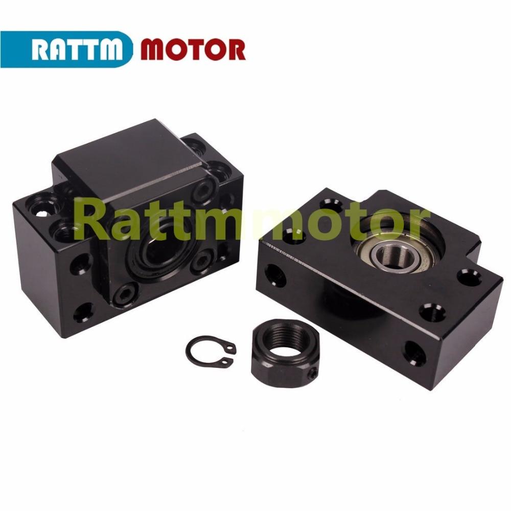 3sets SBR16 linear rail ballscrew RM1605-350//600//1500mm+BK//BF12 end bearing CNC