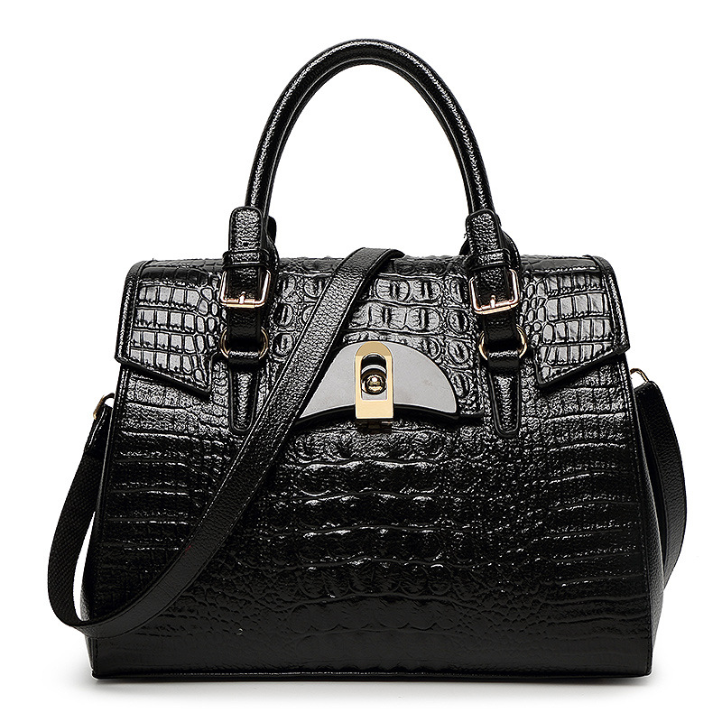 ФОТО 2017 New Famous Designer Brands Women Leather Handbags Crocodile Pattern Leather Shoulder Bags Luxury Women Messenger Bag