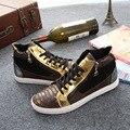 Бесплатная Доставка Новое Прибытие Мужчины Повседневная Обувь Мода Кожаные Ботинки Шнуровки Осень Прогулки Обувь Размер 39 ~ 43