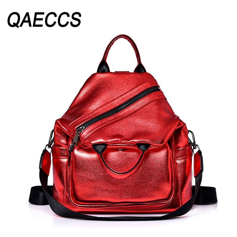 2019 femmes déformation cuir sacs à dos de haute qualité voyage sacs à bandoulière femme grande capacité sac à dos sac à dos pour les filles nouveau