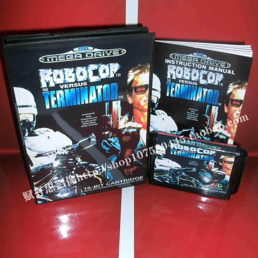 Robocop vs.terminator Game cartridge with Box and Manual 16 bit MD card for Sega Mega Drive for Genesis