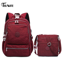 Casual Original School bags for teenage girls women bag 2019 NEW Laptop backpack Satchel Bag Set Backpacks Nylon USB Charging