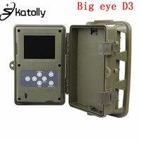 Skatolly D3 큰 눈 HD 1080 마력 야간 적외선 카메라 야외 정찰 사냥 트레일 비디오 카메라 야생 동물 사냥