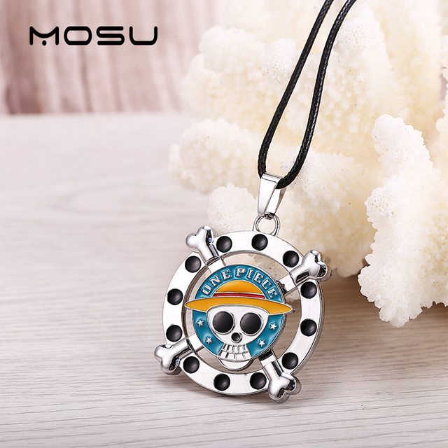 One Piece Necklace Rotatable Luffy Cosplay Pendant