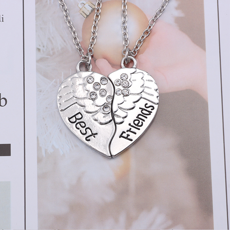HTB1FuDLXiDxK1RjSsphq6zHrpXa1 - Best Friend Necklace Women Crystal Heart Tai Chi Crown Best Friends Forever Necklaces Pendants Friendship BFF Jewelry Collier
