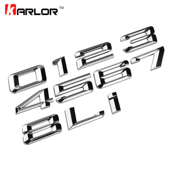 Car Styling 3D ABS Auto Car Emblem Badge Rear Trunk Logo Sticker For BMW E46 E39 E90 E60 E36 E30 E34 E53 F30 F10 F20 X1 X3 X5 image
