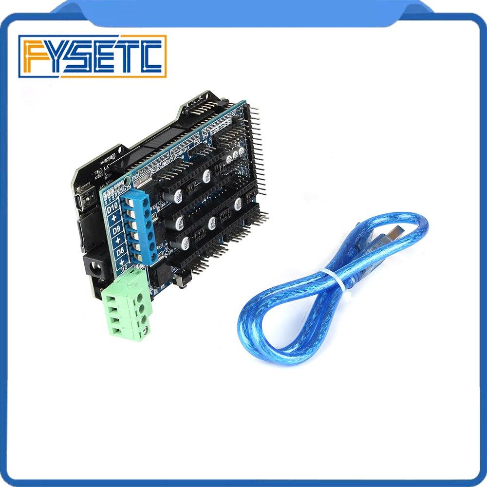 Imprimante 3D pièces RE-ARM carte de contrôle 32 bits mise à niveau Mega 2560 R3 carte mère + rampes 1.5 panneau de commande d'extension - 2