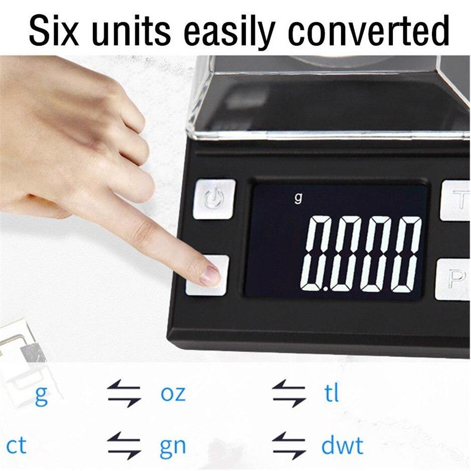 50g/0.001g LCD numérique bijoux balances poids de laboratoire haute précision échelle usage médical Portable Mini Balance électronique - 3