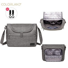 Colorland marka bebek çantaları Messenger büyük bezi çanta düzenleyici tasarım bezi çantaları anne için moda anne annelik çantası arabası