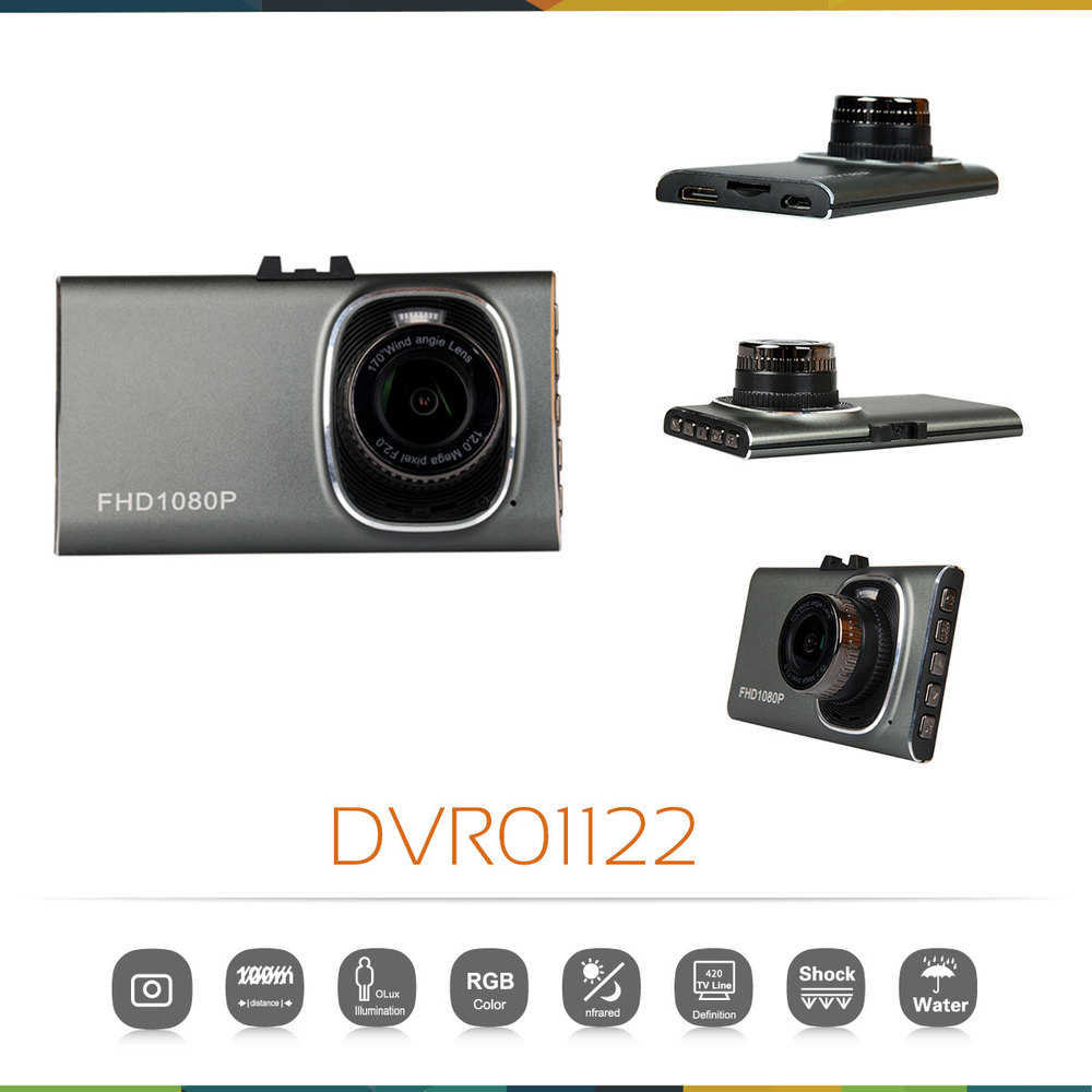 Ultra-thin Car DVR Camera Recorder 3.0'' 170 Degree Wide Angle Full HD 1080P Vehicle Traveling Recorder Night Vision G-Sensor