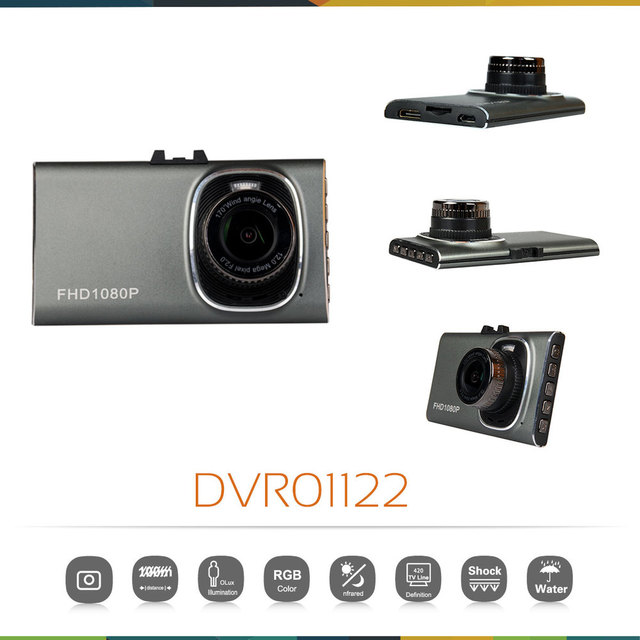 Ultra-thin Car DVR Camera Recorder 3.0'' 170 Degree Wide Angle Full HD 1080P Vehicle Traveling Recorder Night Vision G-Sensor