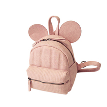 2016 New Fashion Mickey Backpack Trendy Cartoon MINI Bag Women Stylish Cartoon Inexpensive Small Daypack Ladies Embossing PU Bag