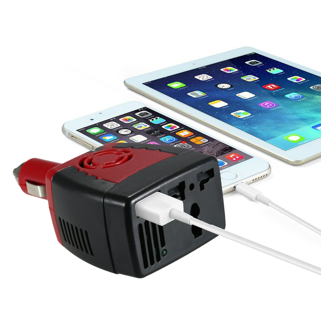 MAX 150W Inverter Auto Voltage Converter Car Power Inverter Adapter with Cigarette Lighter