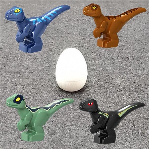 2Pcs Jurassic World Dinosaur Tyrannosaurus Rex Indoraptor Baby Dino Egg Building Blocks Collection Learning For Children Toys