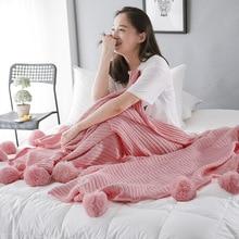 Big Wool Ball Blanket Knitting Nordic Soft Assembly Decoration New Fresh Green Towel