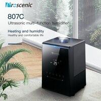 Proscenic 807C воздушный увлажнитель ультразвуковой увлажнитель 5.31L черный для дома немой Спальня офиса большой Ёмкость устройство для ароматера