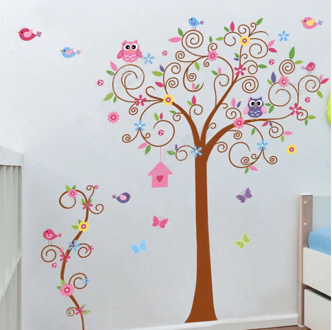 stickers muraux nursery wall decal,children wall decal,baby girl