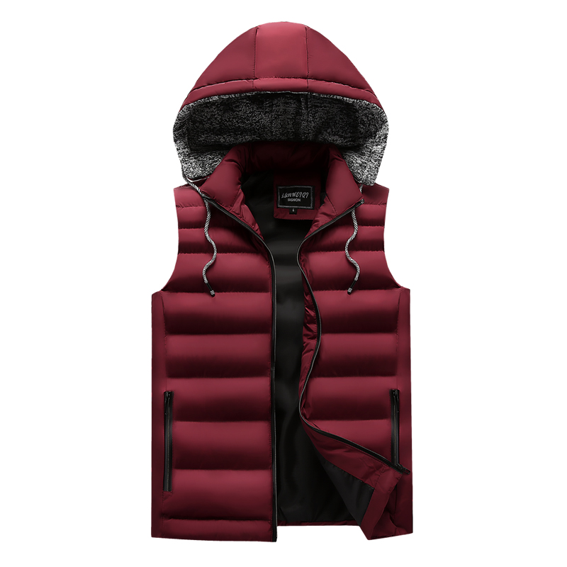 men\`s casual clothing fashion down jackets men leisure dress vests winter warm elegant korean streetwear trend coat vest for men (3)