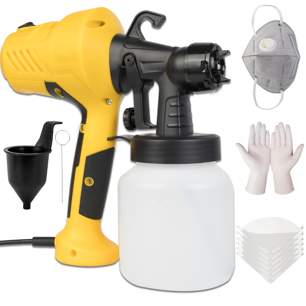 800ML 2.5MM Nozzle Handheld Spray Gun Paint Sprayers Power Paint Gun For Clean Up Spray Pesticide Flow Control Electric Airbrush