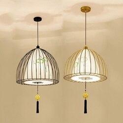 中国風のペンダントランプパーソナ鳥鉄アートキッチンランプベッドルームシンプルなカフェペンダントライト -