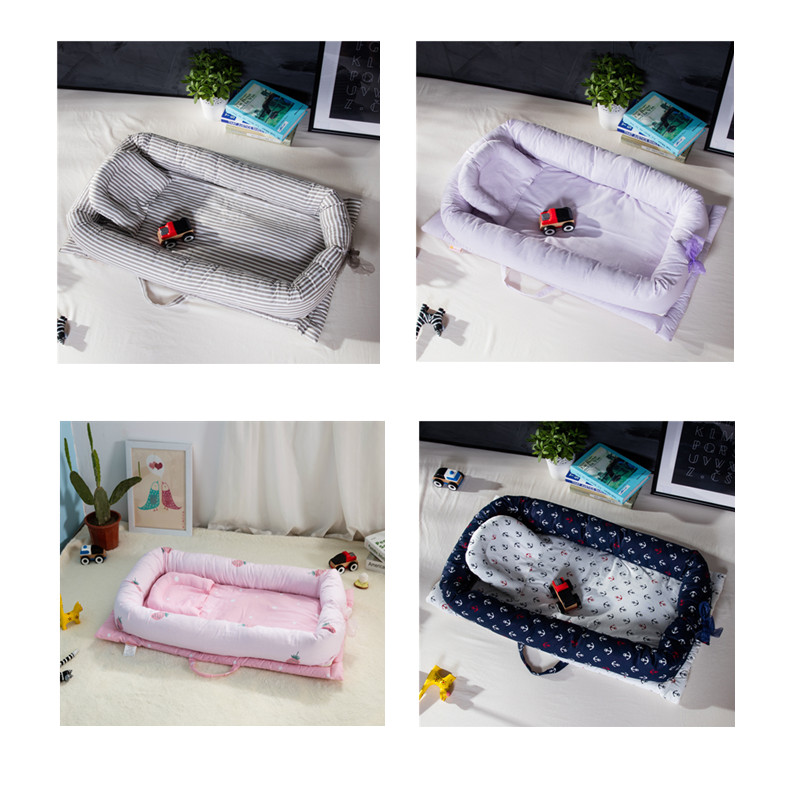 0-24M Baby Portable Nest Bed Foldable Baby Crib For Newborns Baby Bedding Travel Baby Bed For Infant with Bumper Bionic Cot Mat0-24M Baby Portable Nest Bed Foldable Baby Crib For Newborns Baby Bedding Travel Baby Bed For Infant with Bumper Bionic Cot Mat