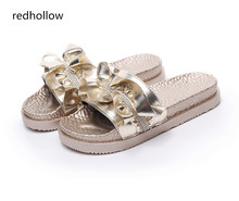 Summer Woman Shoes Platform Slippers Beach Sandals Flip Flops Slippers For Women Fashion Crystal Bling Ladies Shoes Gold Sliver недорого