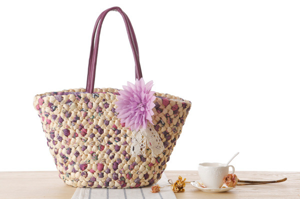 Woven Beach Bags Women Large Straw Handbags Summer Fashion Zipper 17 Bolsa Feminina Flower Ladies Hand Bags Female New Arrival 3