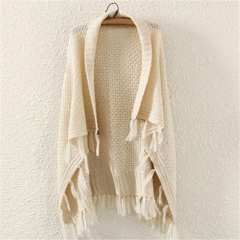 Bat wing Solid Fringed Poncho | Ponchos and Capes | Up to 60% Off Now