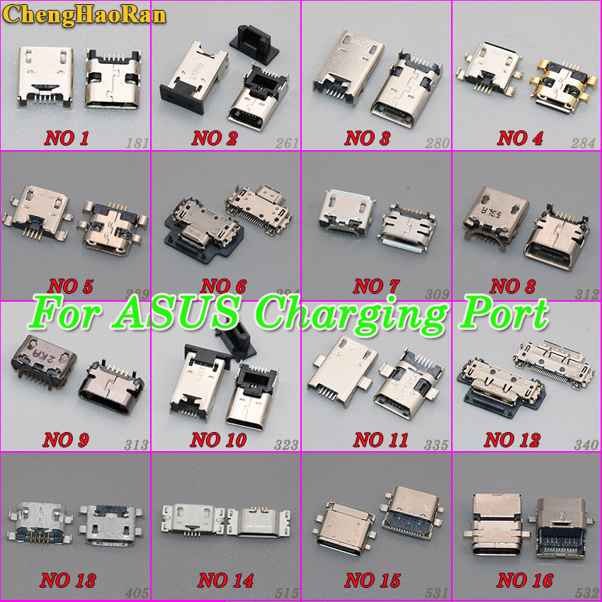 ChengHaoRan micro usb jack socket Connector charger Charging Port for ASUS Zenfone 5 6 K004 T100T PadFone Infinity A80 A86 T300