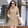 Winter Parka Women Coat 2016 New Winter Jacket Women Outerwear Long Slim Thickening With a hood Down Wadded jacket  Red D108