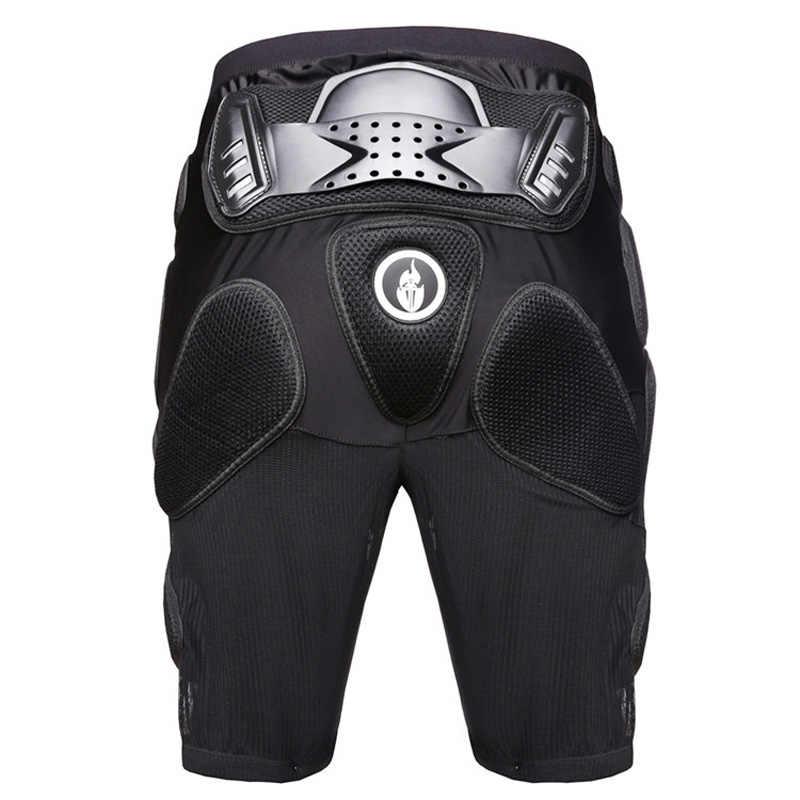Wosawe Snowboarding Ski Bersepeda Motor Perlindungan Badan Pelindung Pelindung Pria Bersepeda Jaket + Celana Pendek + Lutut Bantalan