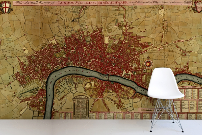Free shipping London Westminster Antique Map Wall Mural for photo 3D wallpaper city budapest city map