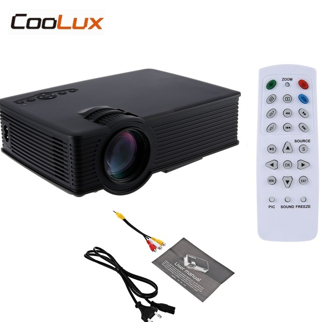 New Price Coolux GP9 GP-9 Mini LCD Projector 800x480pixels Support 1080P 2000 Lumens Home Theater Multimedia HD Proyector