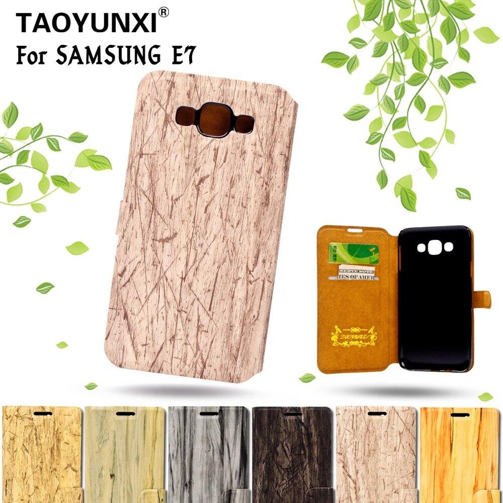 Grano de madera pu accesorios del teléfono móvil de cuero para samsung galaxy a3