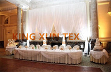 White Color Ice Silk Wedding Backdrop Curtain Stage Background Event Decoration