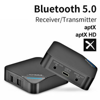 hot CSR8675 Bluetooth 5.0 2 in 1 Transmitter Receiver Fiber Optic Bluetooth Adapter aptX HD audio 3.5mm for TV/Headphone/Car/PC